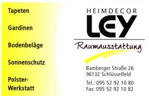 Heimdecor Ley GmbH Raumausstattung Schlüsselfeld