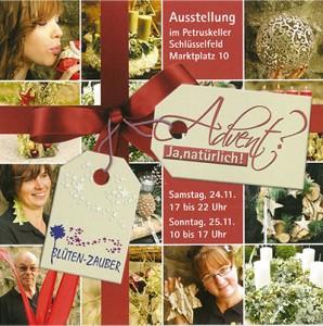 Ausstellung Petruskeller Schlüsselfeld Blütenzauber Advent