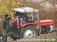 Schlüsselfelder Kerwasburschen mit Kirchweih-Baum 2012