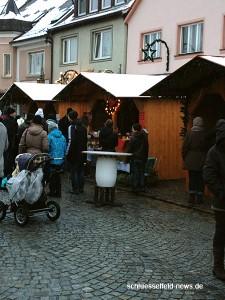 Marktplatz Schlüsselfeld Weihnachtsmarkt 2012 Stand