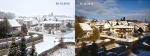 So unterschiedlich wirkt die Landschaft bei Schnee oder Sonnenschein