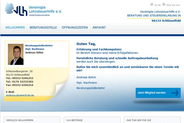 Lohnsteuerhilfeverein Schlüsselfeld Homepage