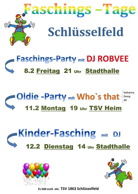 Programm Faschings-Tage Schlüsselfeld 2013