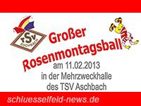 Rosenmontagsball TSV Aschbach Mehrzweckhalle 2013