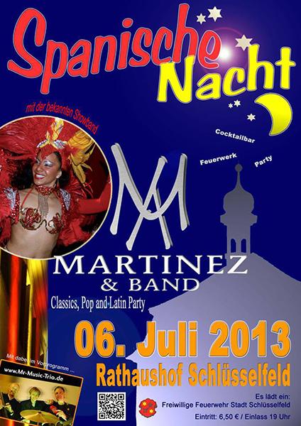 Spanische Nacht Schlüsselfeld Freiwillige Feuerwehr 2013 Martinez und Band