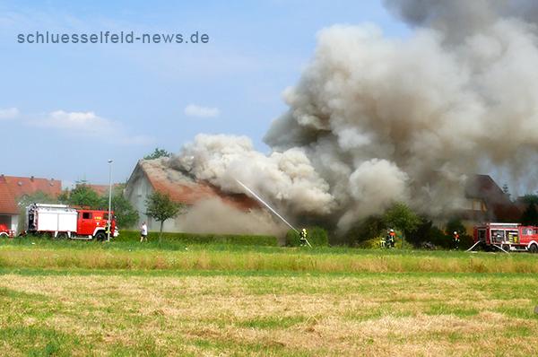 Feuer Wohnhaus Schlüsselfeld Feuerwehr 2013 Remax Immolounge Nürnberg by Schlüsselfeld-News