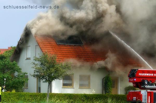Hausbrand in Schlüsselfeld 24072013 Uhlandstraße Remax Nürnberg Remax Immobilien Nürnberg Immolounge