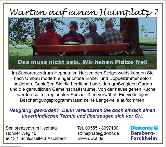 Anzeige Hephata Seniorenzentrum Aschbach-Schlüsselfeld 700b