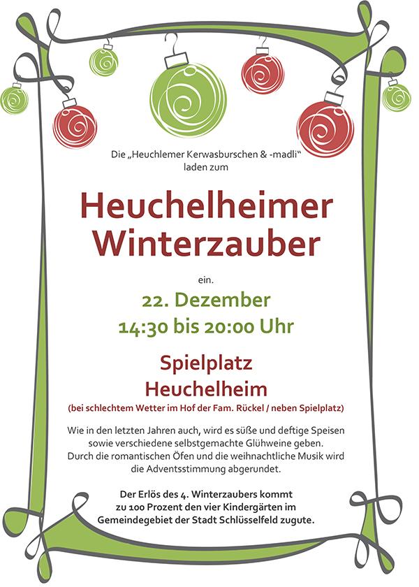 Heuchelheimer Winterzauber Kerwasburschen und Madli Heuchelheim 2013