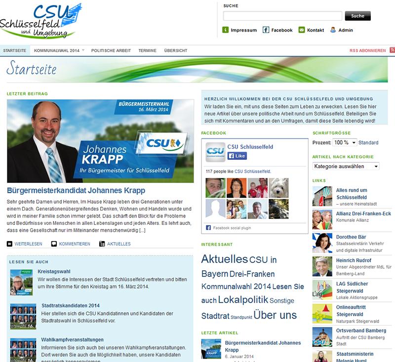 Homepage CSU Schlüsselfeld und Umgebung