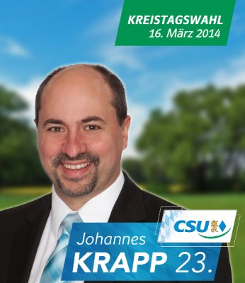Kreistag Kreistagswahl 2014 Johannes Krapp Schlüsselfeld