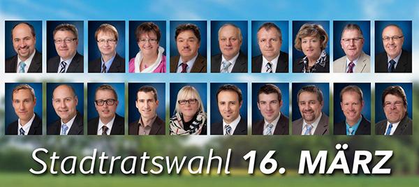 Stadtratswahl Schlüsselfeld CSU 16 März 2014 600b