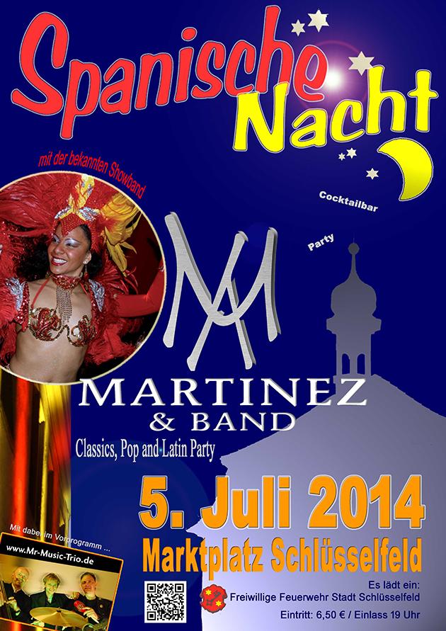 Plakat Spanische Nacht 2014 Schlüsselfeld