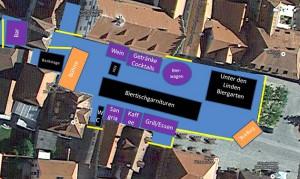 Spanische Nacht Lageplan Marktplatz Schlüsselfeld 2014