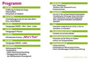 Winkelmarkt Schlüsselfeld 2014 Programm