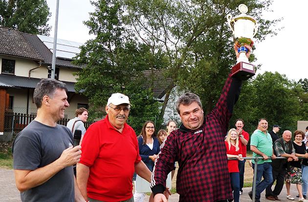 Firmencup TSV Schlüsselfeld 2014 Siegerehrung Versicherung