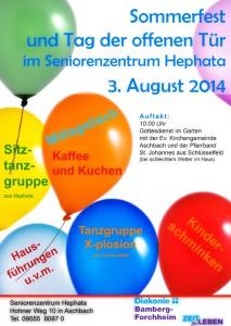 Sommerfest Hephata 2014 Aschbach Schlüsselfeld Finanzplanung Iskra Bamberg