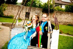 Alina Florian Haller Thüngfeld im Stadtpark von Schlüsselfeld Hochzeit Paar Facebook