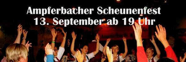 Ampferbacher Scheunenfest 2014 Ampferbach Ebrachtaler Musikanten Selig Veranstaltung