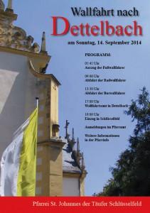 Wallfahrt Dettelbach 2014 Pfarrei Schlüsselfeld Franz Hünnerkopf Richard Zipfel Herbert Weichlein Margarete Ott Georg Meidel Pfarrkirche