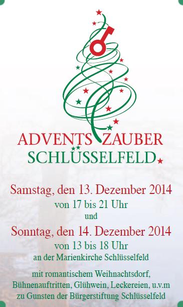 Adventszauber Schlüsselfeld 2014 Plakat Weihnachten Oberfranken Christkind