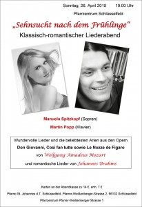 Plakat Popp-Spitzkopf Sehnsucht nach dem Frühlinge Schlüsselfeld Kirchenchor Pfarrei