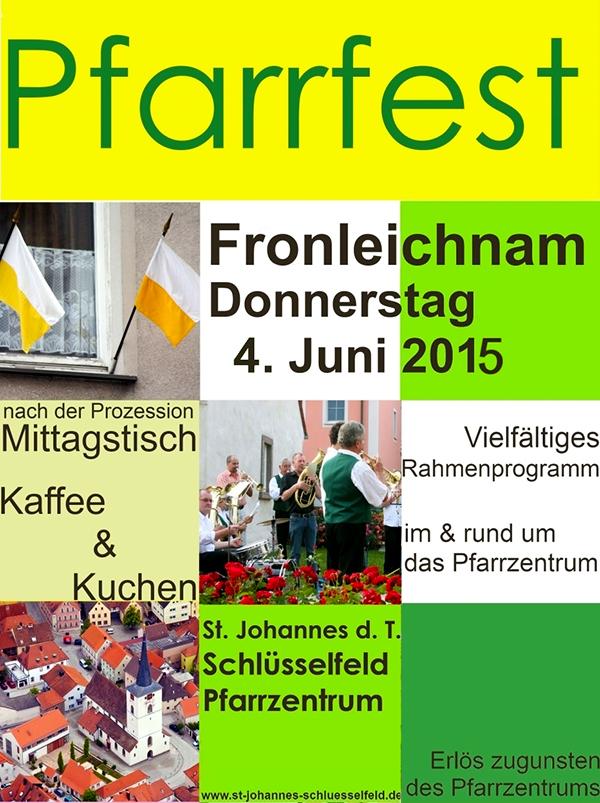 Fronleichnam Pfarrfest 04 Juni 2015 Schlüsselfeld Kirche Pfarrei Katholisch Katholiken