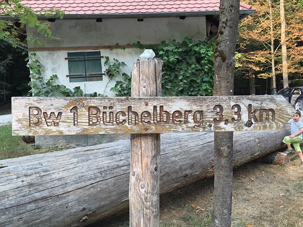 Büchelberg Schild Hinweis Richtung  Holz Jägertafel Schlüsselfeld Wüstenbuch Debersdorf Wald Bürgerwald