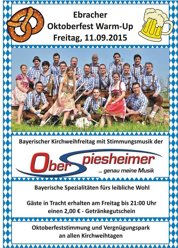Ebrach Oktoberfest Warm Up Oberspiesheimer 2015