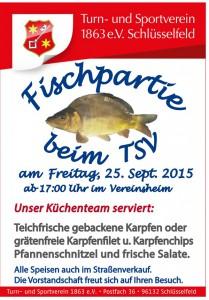 Fischpartie TSV Schlüsselfeld 2015 Vereinsheim