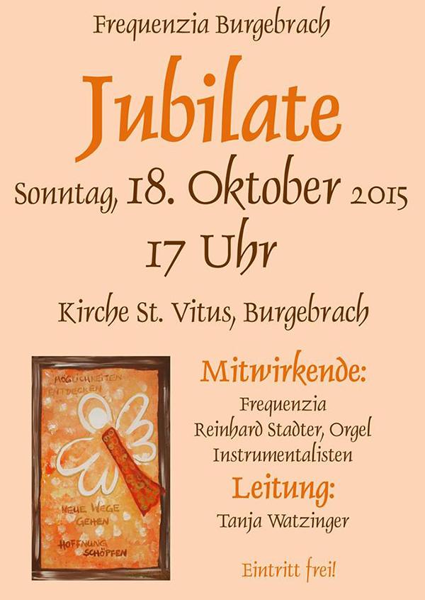 Konzert Burgebrach Monika von Grafenstein Reinhard Stadter Orgel Kirche St Vitus Burgebrach Tanja Watzinger Frequenzia Plakat