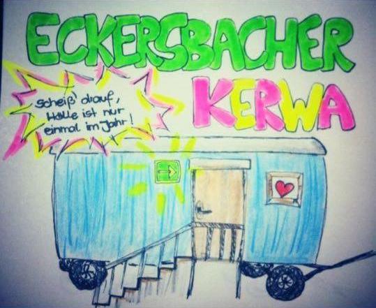 Eckersbach Kerwa Wagen Scheiß drauf Plakat