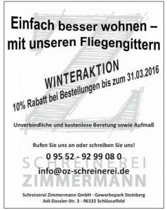 Schreinerei Zimmermann Fliegengitter Angebot