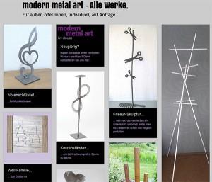 modern metal art Kunst aus Metall Burgwindheim Oberweiler Oberfranken Kunstwerk Werner Deues Metallkunst