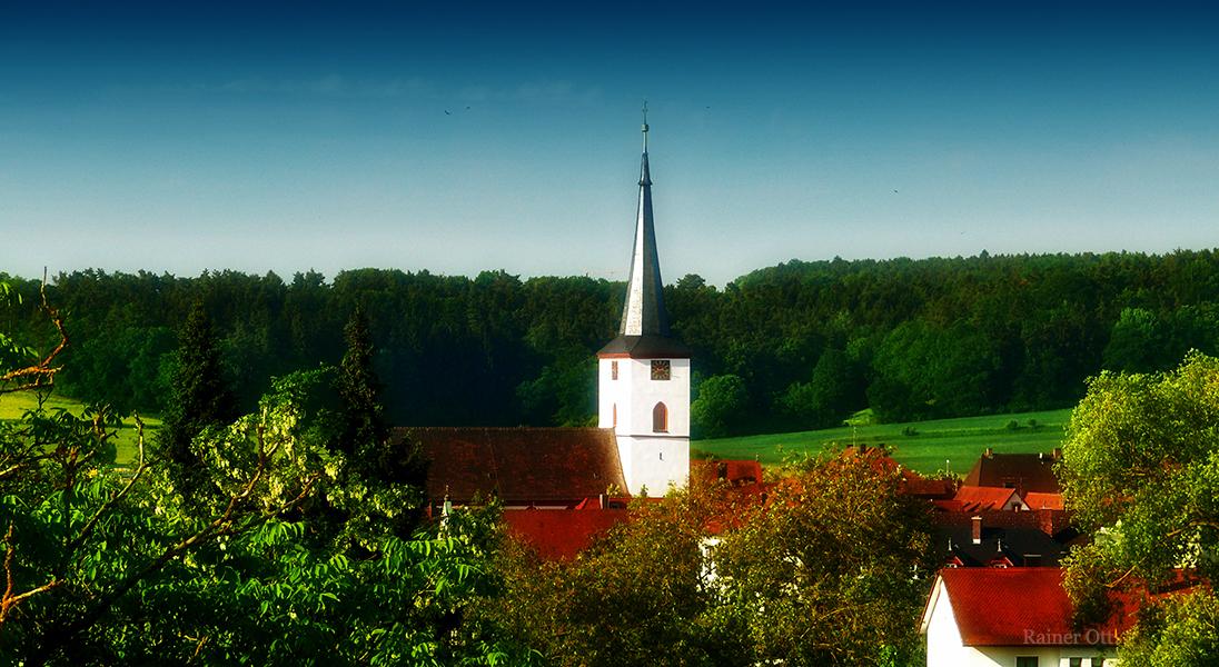 Stadt Schlüsselfeld Kirche Schlüsselfeld-News Luftaufnahme Header