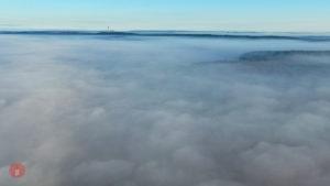 Nebel Schlüsselfeld Fernmeldeturm