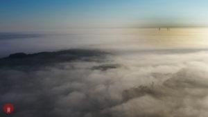 Nebel Schlüsselfeld Windrad