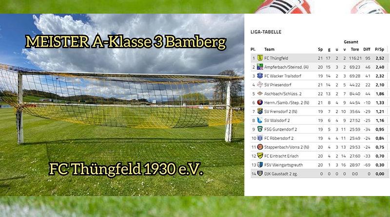 FC Thüngfeld Meister A Klasse Bamberg