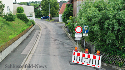 Eckersbacher Straße Baustelle Thüngfeld