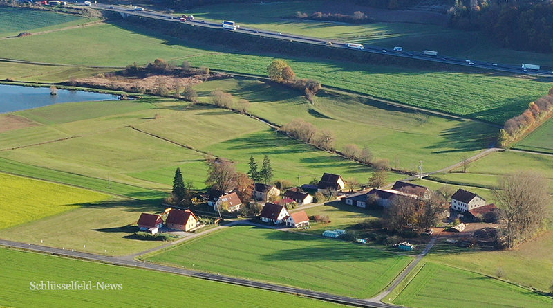 Hutzelmühle Steigerwald Radeltour Panorama