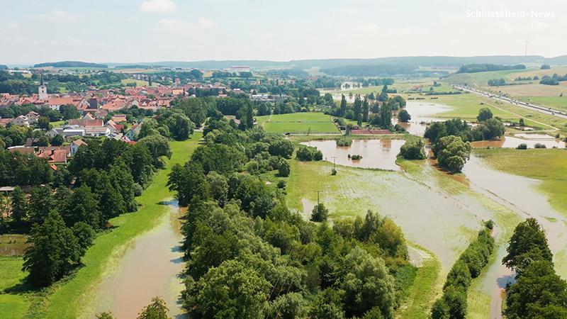 Überschwemmung Oberfranken